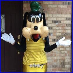 VTG Goofy HALLOWEEN Costume Head Mask Disney Professional Paper Mache Life Size