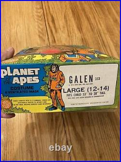VTG Planet of the Apes GALEN Ben Cooper Halloween Costume 1973 Sz L 12-14 withBox