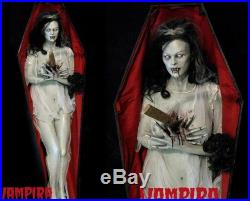 Vampira life size halloween prop in casket midnight studios fx