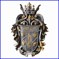 Vampire Count Dracula Coat of Arms Shield Gothic Sculpture Vlad the Impaler