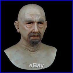 Very realistic soft silicone mask Lifelike beard Grandpa soft Silicone Mask