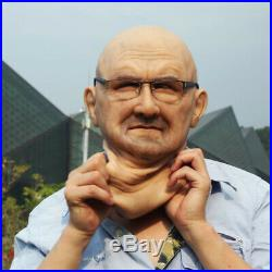Very realistic soft silicone mask realistic old people soft silicone mask LNN-1