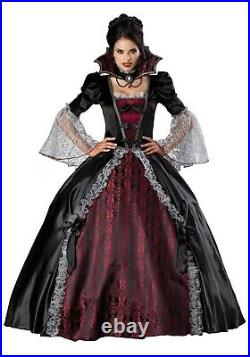 Victorian Trading Co Vampire of Versailles Black Halloween Costume Ball Gown SM