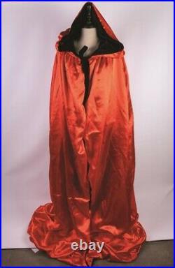 Victorian Trading Co Velvet Venetian Red Black Reversible Cape
