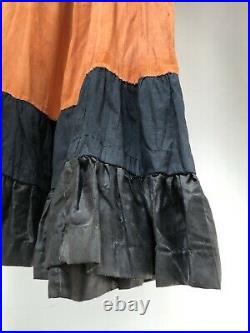 Vintage 1920s FOLK ART Dress HALLOWEEN COSTUME Handmade BLACK CATS Antique AAFA