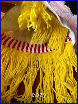 Vintage 1940s 1950s Handmade Halloween Clown Costume Set Pants Blouse Coat Hat