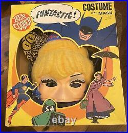 Vintage 1968 Ben Cooper I DREAM OF JEANNIE Costume Flocked Hair Cloth Costume