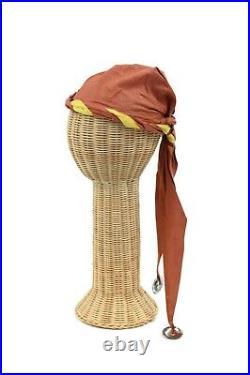 Vintage 20s Halloween Renaissance Gypsy Cotton Antique Costume Dress Set S