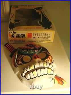 Vintage BEN COOPER SKELETON with KNIFEHALLOWEEN MASK/COSTUME IN ORIG. BOX