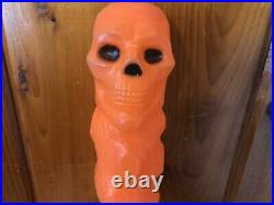 Vintage Clinton Toy Corp Skull Club Noise Maker Rare Halloween Blow Mold 1960s