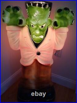 Vintage EMPIRE Blow Mold Large Frankenstein Monster Halloween Lighted Yard Decor