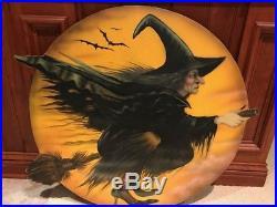 Vintage Halloween H Painted Boardwalk Original Bonnie Barrett 2003 36 Witch
