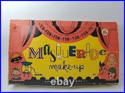 Vintage Masquerade Make-up Kits Store Display 1960's 16 Sets New Old Stock Rare