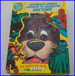Vintage Rare Walt Disney Jungle Book Baloo Ben Cooper Costume Mask Box Sz 8-10