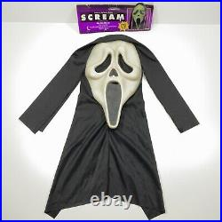 Vintage Scream 9206 Ghostface Mask Easter Unlimited Fun World Ghost Face Glow