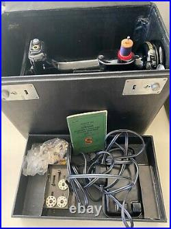 Vintage Singer Featherweight Portable Electric Sewing Machine 221-1