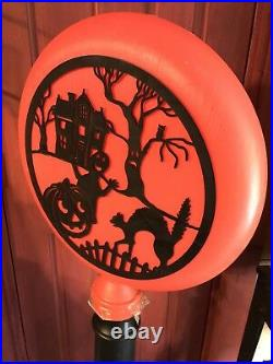 Vintage Union Products Halloween Silhouette Blow Mold Light Lamp Post
