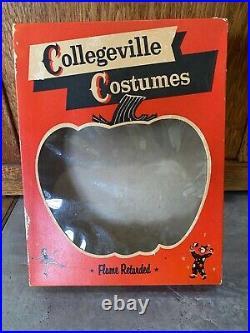 Vtg 1960s Collegeville Halloween Costume Mask BRUTE w Box CHILDS Frankenstein