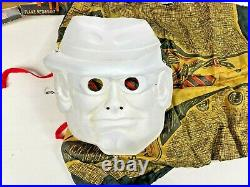 Vtg 1960s Spook Town by Ben Cooper SECRET AGENT Costume Mask Small 4-6 USA Made