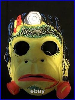 Vtg 1970s Ben Cooper FRANKENSTEIN Monster Costume Mask Retro Halloween