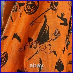 Vtg 20s-30s Childrens Halloween Romper Clown Witch Ruffles Medium