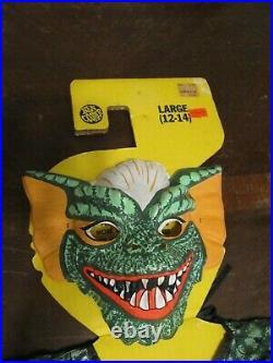 Vtg Ben Cooper Gremlins Stripe Halloween Mask Costume Child Large (12-14)