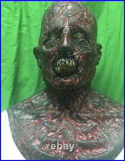 WFX Walking Dead Burnt Zombie Silicone Mask Black Light Reactive