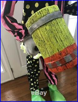Wacky Mole Clown Halloween Prop Spirit Halloween Rare Htf Gemmy Morbid