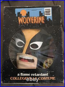 Wolverine Marvel Costume 1992 COLLEGEVILLE X-Men Tiny Tot 3-4 Years With Box