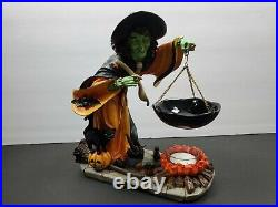 Yankee Candle Green Witch WithSpoon Halloween Tart Wax Burner RARE