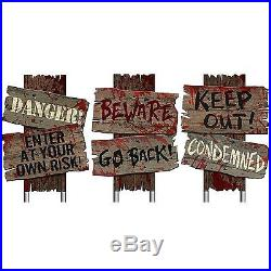 Zombie Haunted Cemetery Sidewalk Signs Halloween Props Horror Prop House Party