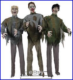 Zombie Horde Halloween Animated Prop 6 Foot
