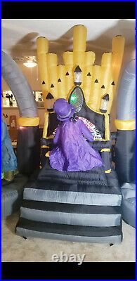 Zombie Organ Player Halloween Inflatable Airblown Dance Zombies by Gemmy 11 Ft